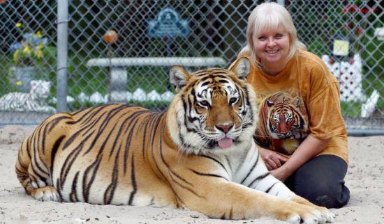 女子养老虎当宠物(图)