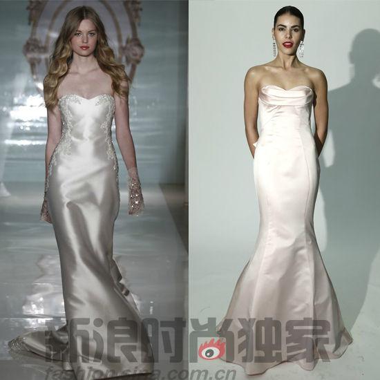 八款女神婚纱预测 鱼尾婚纱