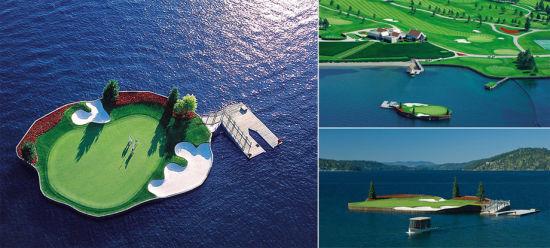 探访全球唯一能漂浮水中的高尔夫球场