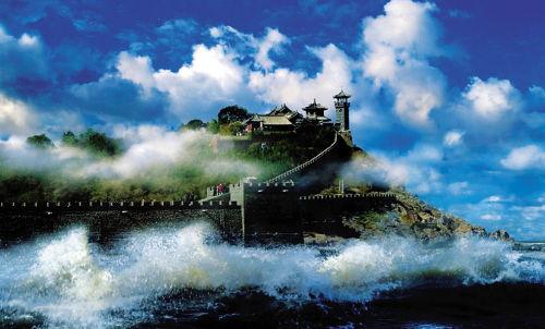 经曝光后没拆除反而扩建    蓬莱仙岛,历史悠久,风光秀美.