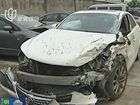 土方车急转弯引发三车连环撞幸无人员伤亡