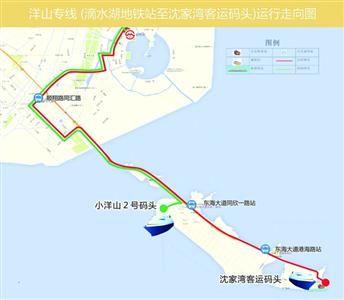 洋山专线路线图 公交供图