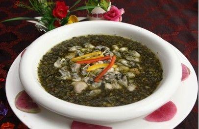 美食:十大海鲜-沧海拾贝(雪菜牡蛎汤)