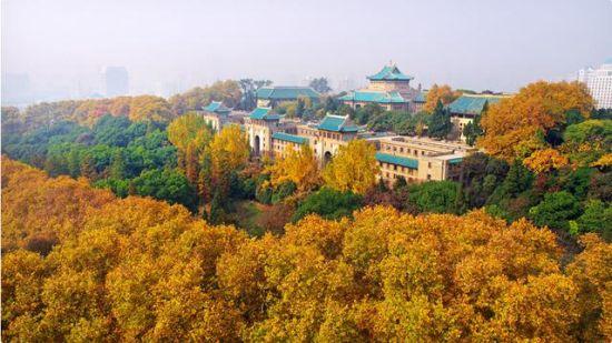 武汉大学校园环境优美