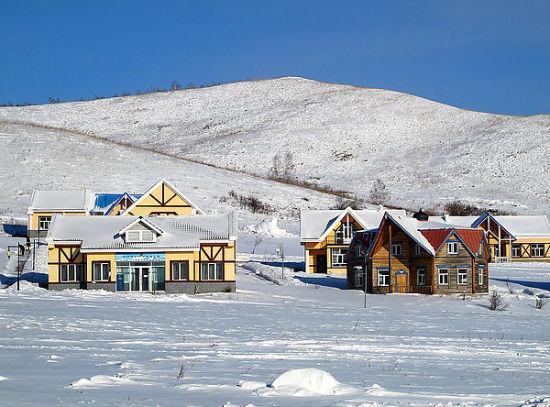 内蒙冬季风景图片