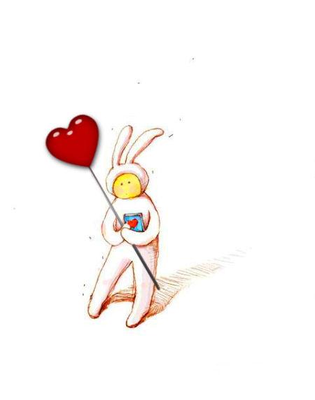 兔子小清新卡通