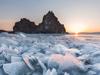 冰冻的贝尔加湖