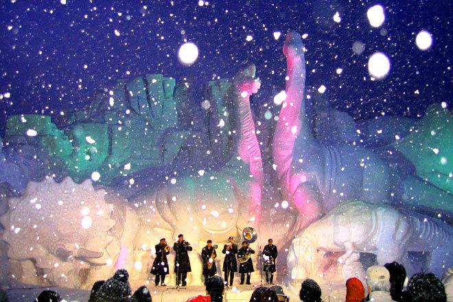 北海道 冬日里最美的画卷图片
