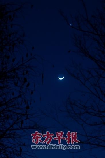 夜空中卡通景物图片