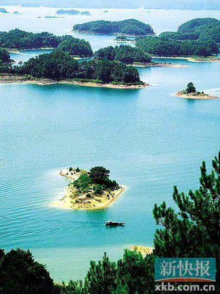 地处长江三角洲腹地的千岛湖