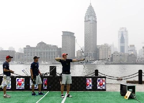 世界杯美国队夺反曲弓男团冠军弯弓射箭