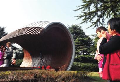 加拿大蝶栖亭落户上海大宁灵石公园