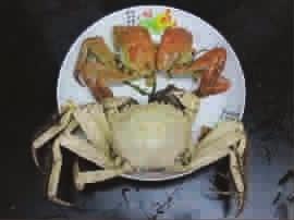 大闸蟹蒸熟呈乳白色专家:不影响食用(图)