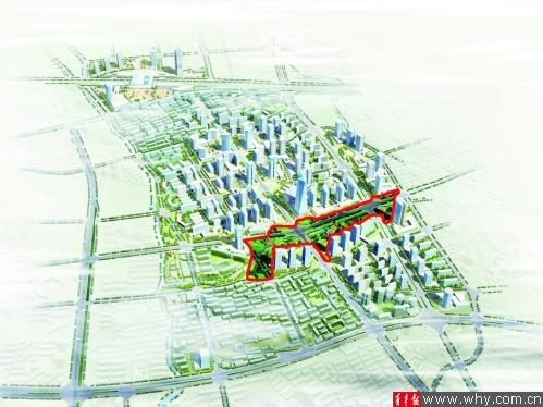 真如城市副中心规划鸟瞰图。