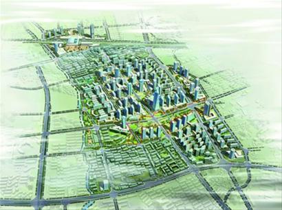 真如城市副中心地块鸟瞰 规划图