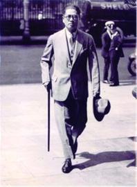 □1933年宋子文代表中国政府出席国际联盟在伦敦举行的世界经济会议 复旦大学供图