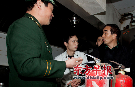 上海连夜检查大型场所消防设施(图)