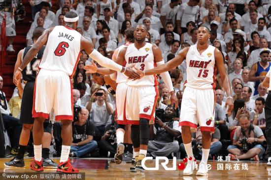 NBA总决赛第七场 热火总冠军图片