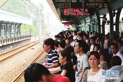 """一列车""""趴窝""""1号线受影响超1小时"""
