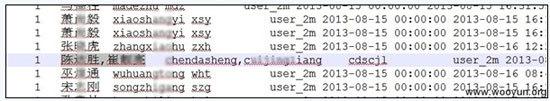 图为被泄露客户信息。