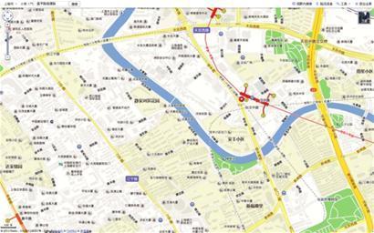 上海苏州河十八景手绘地图