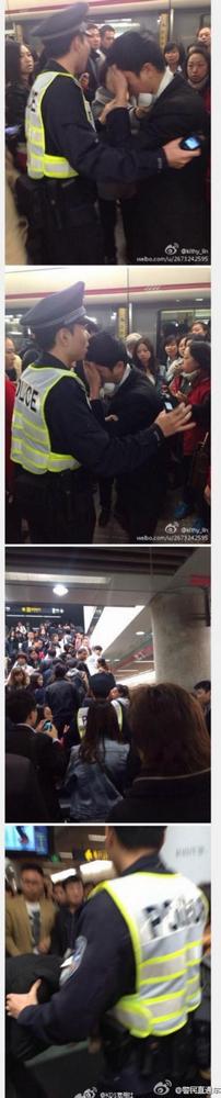 一男子在一号线车厢内趁列车晃动之际猥亵同车女乘客。(图片来源于网络)