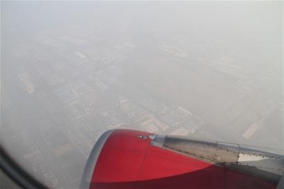 昨天从飞机上俯瞰上海