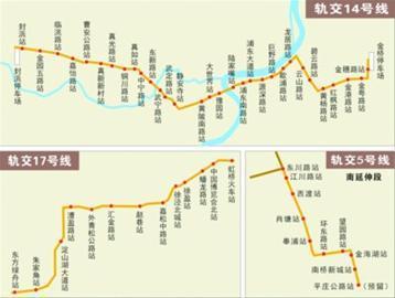 上海年内开建三条地铁线 许青天 制图