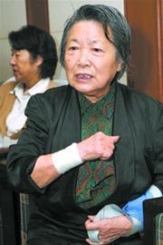 2008年10月23日,蓝为洁参加上海举行的谢晋电影作品回顾展。