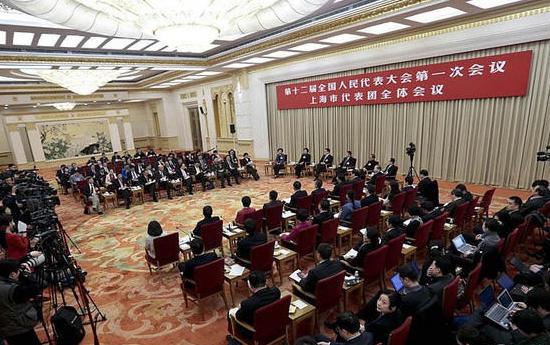 上海代表团