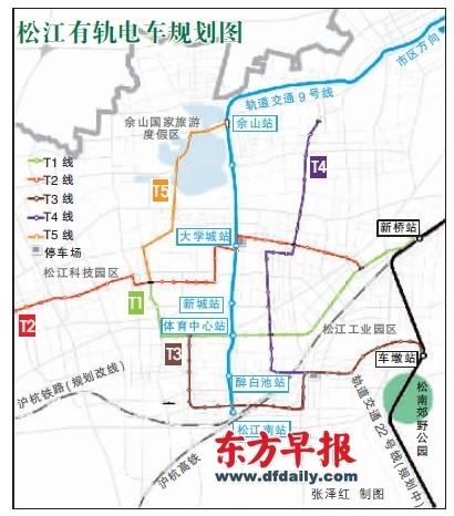 松江有轨电车规划图