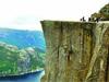 挪威壮丽布道石