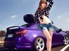 美女邂逅紫色靓车
