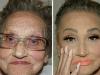 孙女帮奶奶化妆