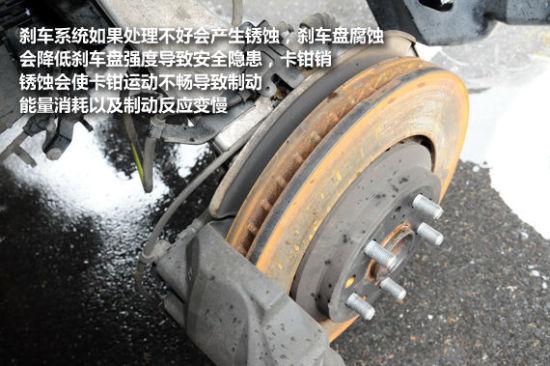 刹车系统(图片来源新浪汽车);