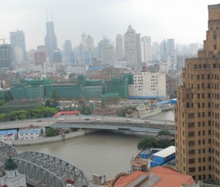 在黃浦江邊的酒店窗臺看風景(3)